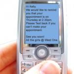 Lecture d'un SMS sur un GSM